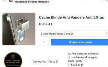 Boutique en ligne Au Petit Serrurier de Paris 8, le moins cher du moins…