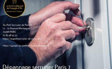 Dépannage serrurier Paris 8 et serrurier Paris 7 Artisan serrurier spécialiste du Dépannage &…