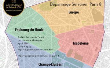 Dépannage Serrurier Paris 8, intervention rapide Faubourg-du-Roule